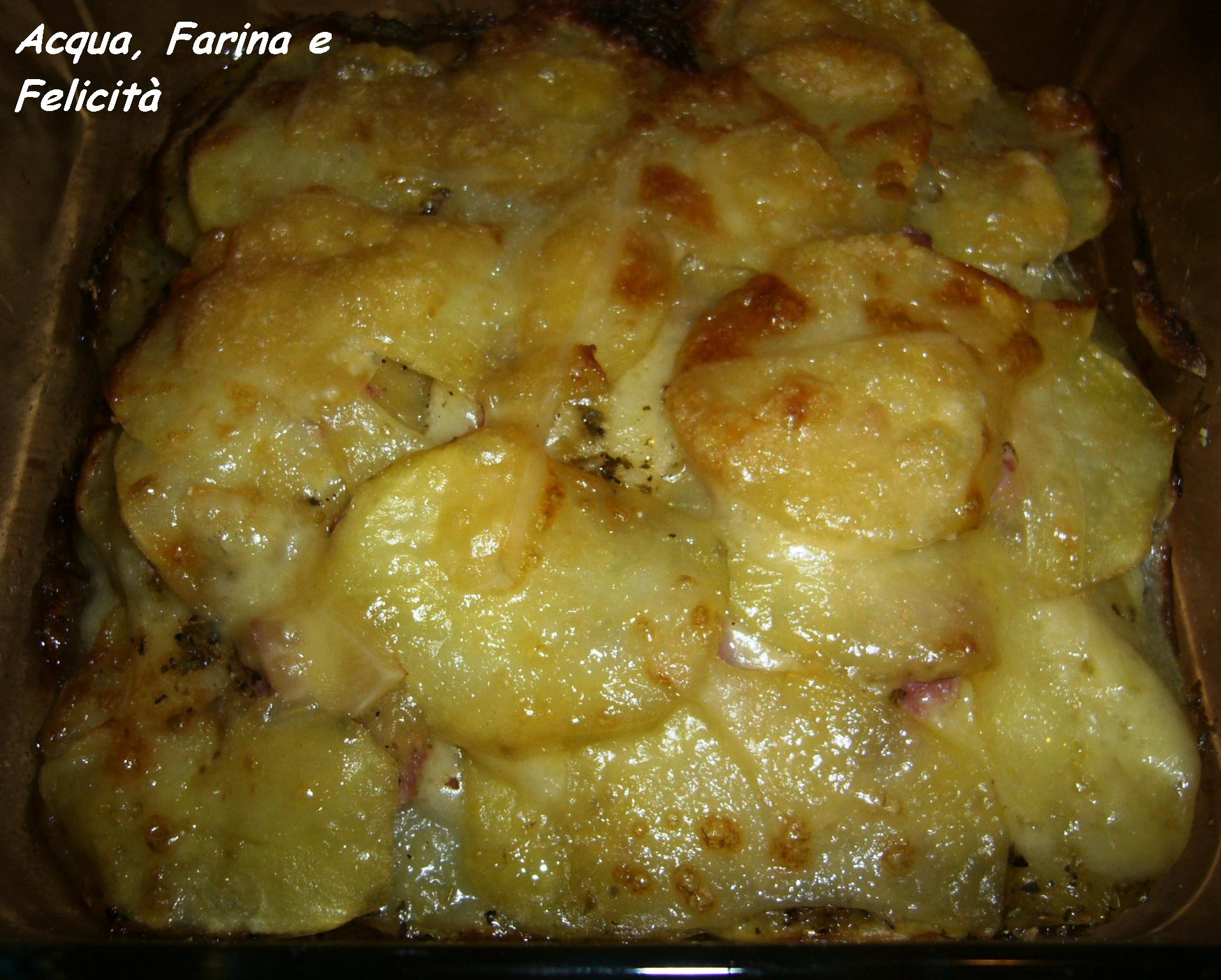 torta di chips di patate al forno
