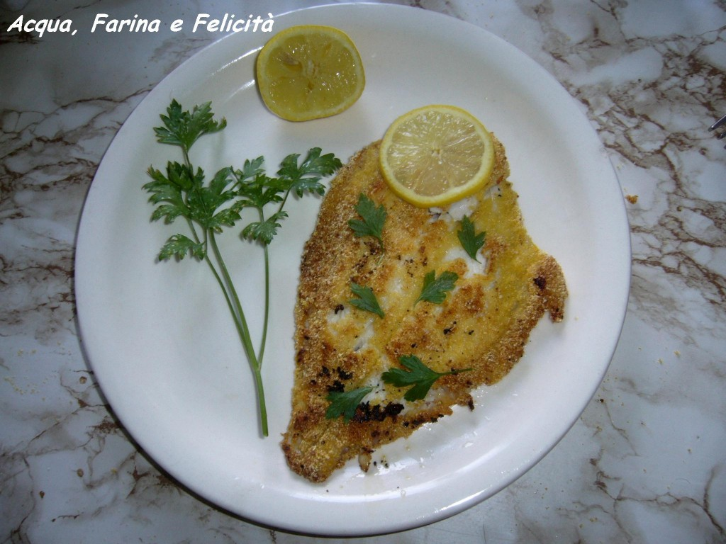 filetti di platessa impanati (senza uova – con farina di mais)