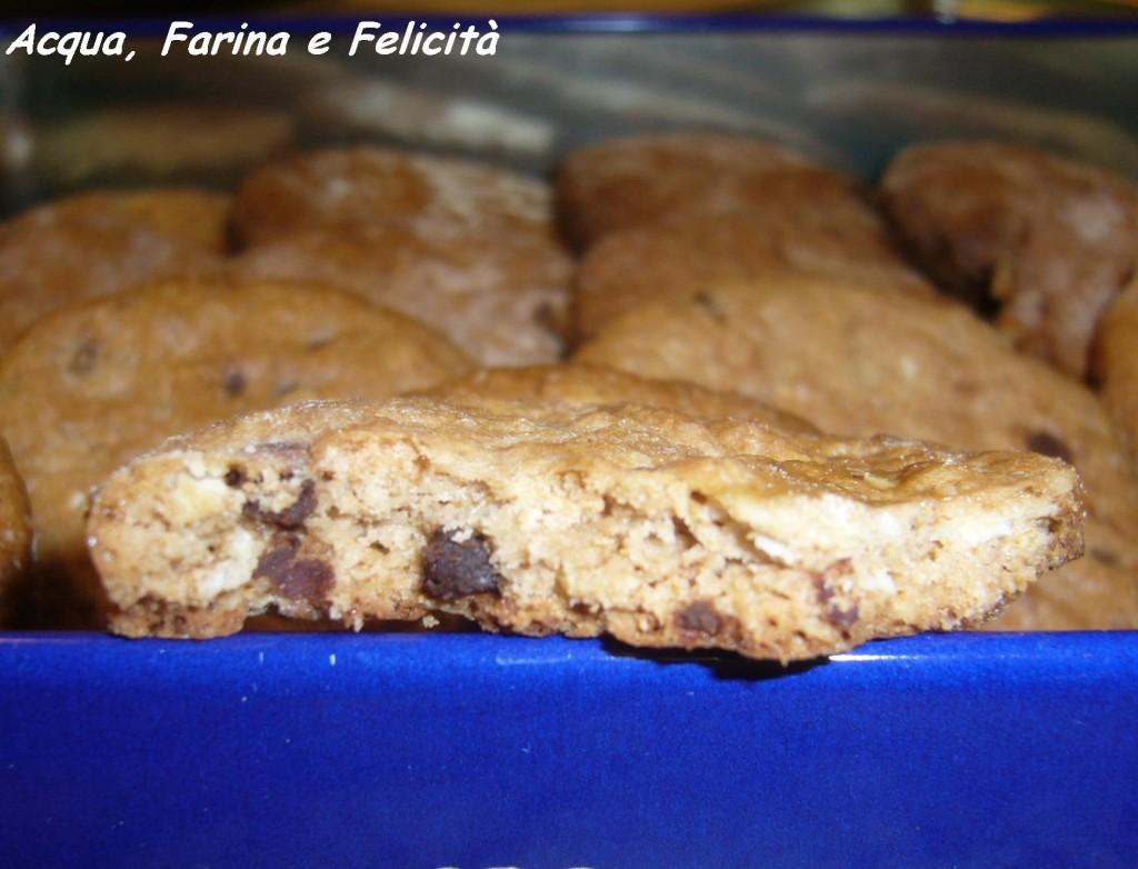 biscotti di avena con cioccolato