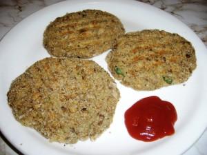 hamburger di lenticchie e patate