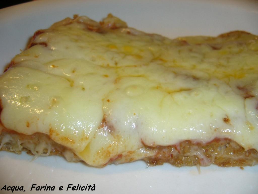 pizza veloce con crusca di grano