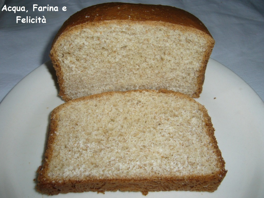 panbrioche semintegrale senza burro con macchina del pane