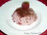 risotto con fragole e cacao amaro