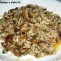 risotto integrale con funghi porcini e miele