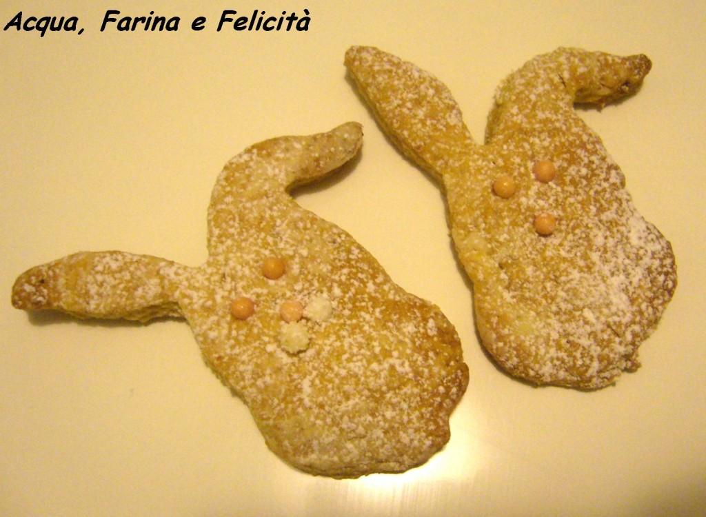 Coniglietti di biscotti al limone vegan