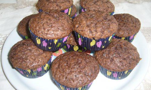 Muffin al Cioccolato e Cacao senza Latticini