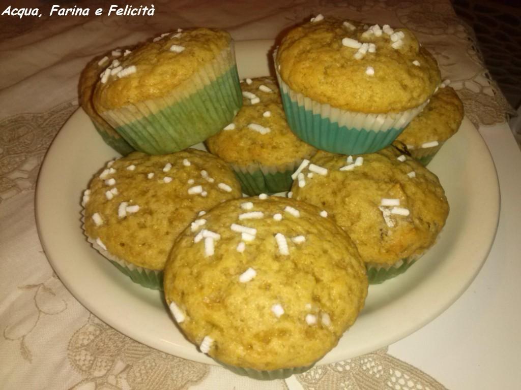 muffin con frutta disidratata – senza latticini