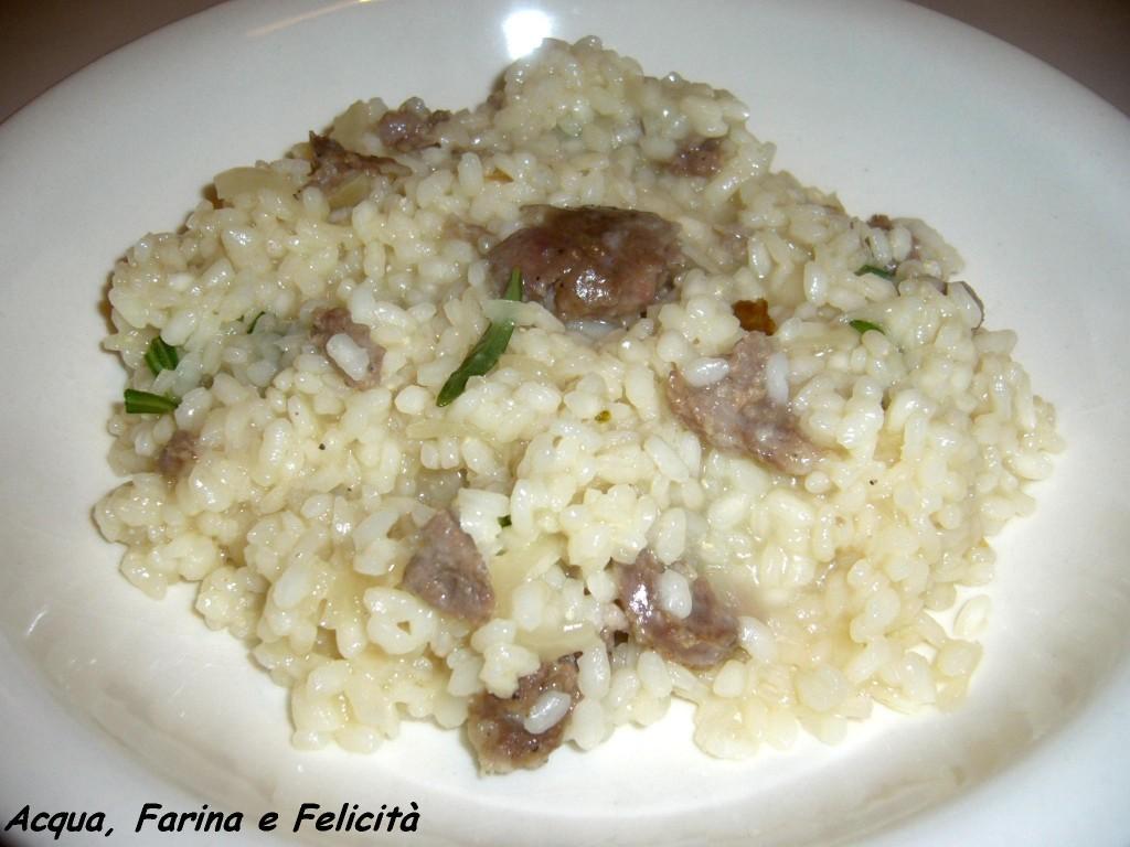 risotto con salsiccia e rosmarino