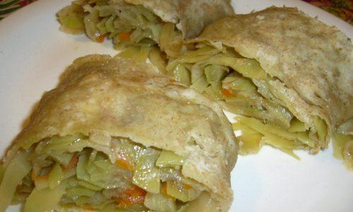 Rotolo Salato con Cavolo Cappuccio – ricetta Vegan