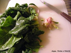 pulire spinaci