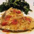 pesce spada con pomodorini in padella