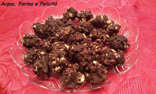 Bocconcini al Cioccolato e Nocciole- ricetta Vegana