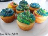 cupcakes al cioccolato multicolor