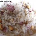 risotto con salame e nocciole