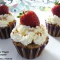 Cupcakes Integrali con Fragole e Mascarpone