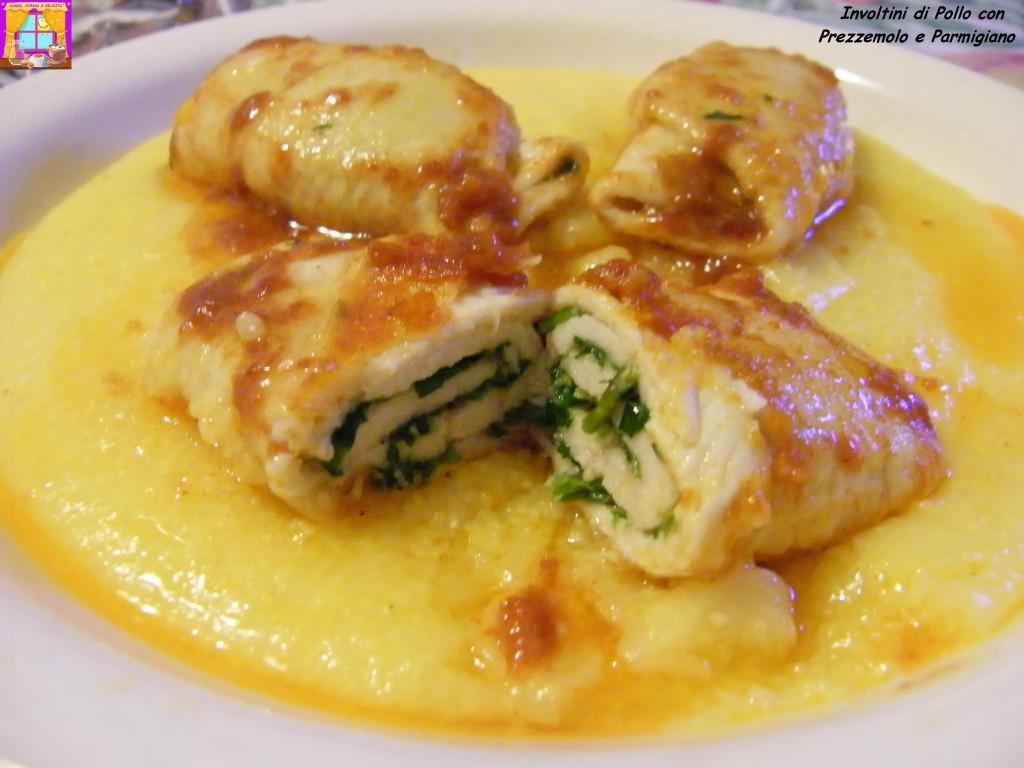 involtini di pollo con prezzemolo e parmigiano