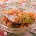 coppette di guacamole con salmone affumicato