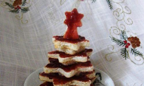 Albero di Natale di Pane Tostato e Confettura