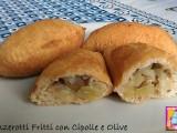 panzerotti fritti con cipolle e olive