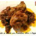 Pollo in Umido con Pomodoro, Olive e Capperi