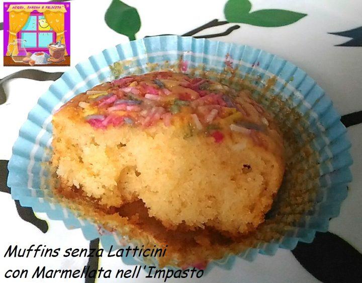 Muffins senza Latticini con Marmellata nell'Impasto