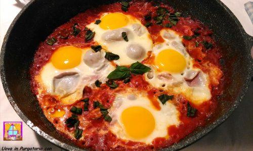 Uova in Purgatorio con Olive e Capperi