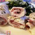 involtini di pollo con salame e formaggio filante