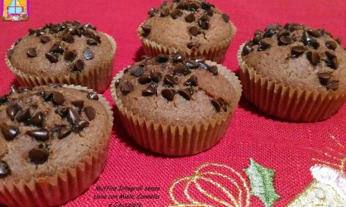 Muffins Integrali senza Uova con Miele e Cannella
