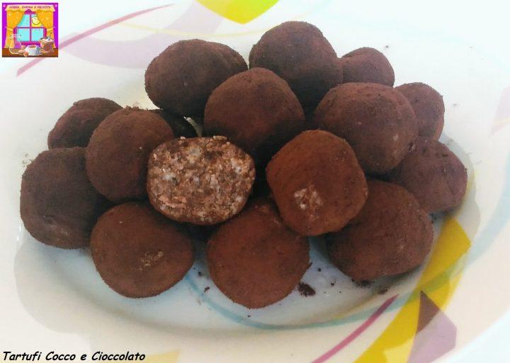 tartufi cocco e cioccolato