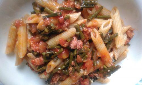 Pasta con Ragù di Fagiolini e Ventricina